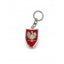 Brelok - tarcza rycerska z polskim orłem
